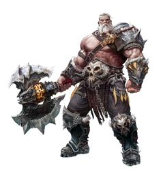 Male Old Human Greataxe Barbarian - Pathfinder PFRPG DND D&D d20 fantasy