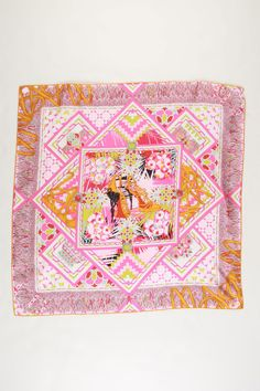 Dior Carre Escapade A Tanger Scarf In Pink