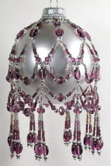 February Crystal Birthstone Ornament Cover Pattern $7.95