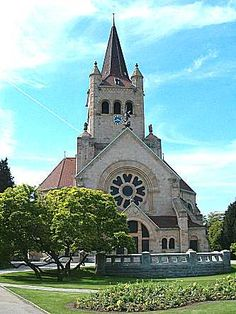 Paulus Church (Art Nouveau) in Basel, Switzerland: Pictures