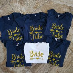 Bride Shirt-Bride Tribe-Personalized T Shirt-Bridal Party shirt-Bachelorette Shirt-Bride Tribe Shirt-Wedding Shirt-Wedding Gifts-Bridesmaid