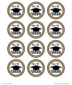 Free Graduation Themed Cupcake Toppers - Just print, cut and use for your graduation party! Graduation Desserts, Graduation Cupcake Toppers, Graduation Crafts, Preschool Graduation, Graduation Celebration, Graduation Decorations, Graduation Party Invitations, Graduation Party Decor, Graduation Songs