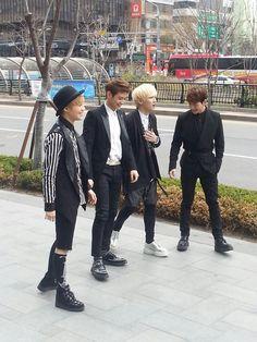 Onew, Key, Minho, Taemin - Spotted on the Street 4/15/13