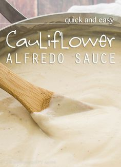 This Quick and Easy Cauliflower Alfredo Sauce is done before the noodles and is an guilt-free, yet indulgent, dinner solution.