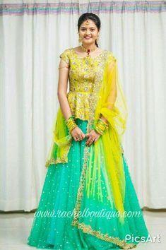 24 Glittering work yellow lehnga is part of Lehenga - Half Saree Designs, Blouse Designs Silk, Bridal Blouse Designs, Lehenga Choli Designs, Girls Frock Design, Long Dress Design, Kids Lehanga Design, Half Saree Lehenga, Lehnga Dress