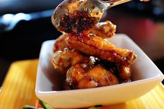 found the recipe for these Asian hot wings by Pioneer Woman on food network...will be trying these soon and very soon