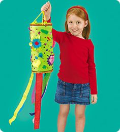 A perfect activity for children ages 5-8! Welcome the breezy days of spring with whimsical handmade wind socks!