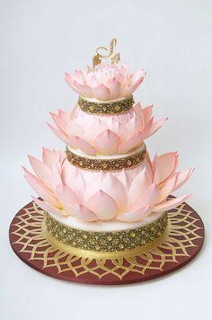 Ron Ben-Israel Lotus flower wedding cake.
