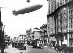 Hindenburg in the city of Curitiba, Brazil (1936) by llvsboston