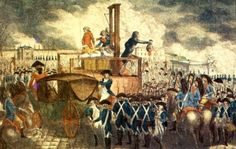 Ejecución de Luis XVI, fue un evento que impacto a toda Europa.