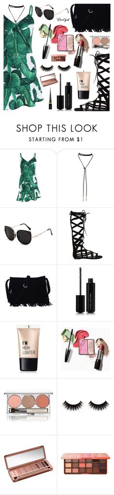 """Rosegal"" by dora04 ❤ liked on Polyvore featuring Steve Madden, Marc Jacobs, Charlotte Russe, Chantecaille, Urban Decay, Too Faced Cosmetics and Christian Louboutin"