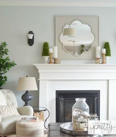 Behr Curio. It'sso pretty! It'sacalming, soft blue-gray that's ever-so-slightly-moody. Paired with white moulding and trim, it's perfection.