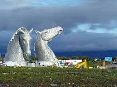 The Kelpies. These sculptures officially open in April 2014. I will be visiting at some point this year. They look amazing.