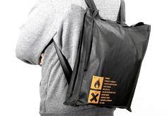 """O """"Montana Action Bag""""  não é apenas uma bolsa norma. Pode ser facilmente transformado-o em uma mochila: Apenas desfazer os buteões de pressão das alças de transporte. Pode ser retransformado em uma bolsa normal novamente. A bolsa oferece espaço para 12 latas e é feito de polipropileno resistente.  já à venda nas lojas JUNKZ    http://junkz.com.br/blog/2013/09/4661/"""
