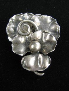 Hand Wrought Pin by Georg Jensen Vintage Sterling Silver https://www.etsy.com/shop/VintageMemoryJewelry