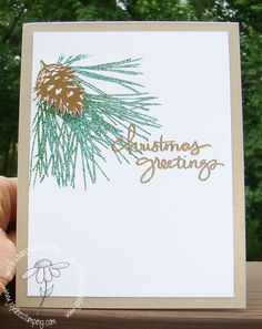 Sneak Peek:  Ornamental Pine.  Stampin' Up!'s Ornamental Pine stamp set is one I almost didn't get!  I only put it in my basket because I had some hostess dollars.   YET... It's one of the best purchases I have made!  Love it:-)