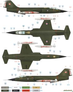 CF-104 Starfighter CAF Green Color Profile and Paint Guide Added