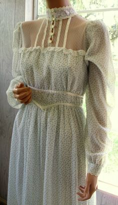 Gunne Sax Dress Victorian Syle Kissed by a Rose by artemis53, $150.00