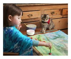 Autistic 5-year-old, Iris Grace, and her therapy cat, Thula - Imgur