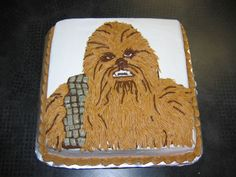 Chewbacca+-+This+is+one+of+two+Star+Wars+cakes+I+did+for+a+birthday+party+for+twins.