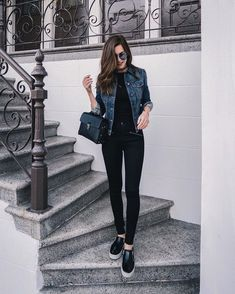 99 Perfect Fall Fashion Outfits Ideas To Copy Right Now Black fall outfits Cute Spring Outfits, Casual Work Outfits, Fall Fashion Outfits, Mode Outfits, Classy Outfits, Trendy Outfits, Autumn Fashion, Winter Outfits, Sneakers Fashion Outfits