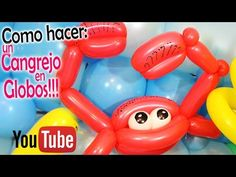 Como hacer un CANGREJO de GLOBOS!! / how to make Crab Balloons - YouTube