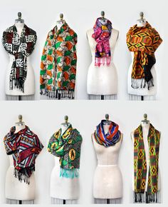 "Beautiful reversible African print scarf with fringe on each side.-70""L x 12""W-3"" hand knotted fringes -Lightweight-Handmade"