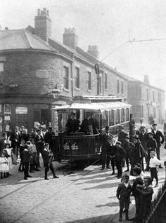 Tramcar No. 44 on Walkley route at South Road, junction of Fulton Road Nice Photos, Old Photos, Local History, Coventry, Fulton, Sheffield, Public Transport, Creative Writing, Black History