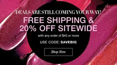 #AvonRep #BeautyBoss SHOP MY #AVON ESTORE WEBSITE AN YOU WILL RECEIVE FREE SHIPPING PLUS 20% OFF SITE WIDE!! USE USE CODE:. SAVEBIG www.youravon.com/aproudfoot