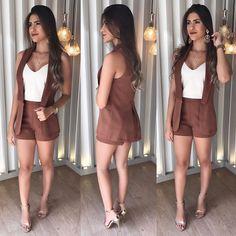 """1,381 curtidas, 31 comentários - L A L E T • Por Layza Aguiar (@laletloja) no Instagram: """"Look da foto anterior no no corpo!  • Regata no crepe com duas alças reguláveis bege R$: 79,00 •…"""""""