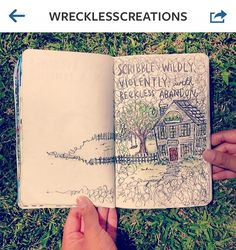 Wreck this journal| Scribble wildly, violently