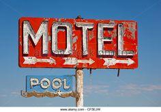 Vintage Motel Sign Stock Photos & Vintage Motel Sign Stock Images ...