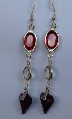 """Red, White and Blue Swarovski earrings """