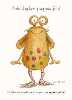 Loni sonríe – El libro de la felicidad de un Pumpf: sobre Loni el Pumpf #niños #libro #felicidad