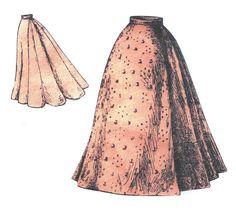1897 Ladies Nine Gored Skirt
