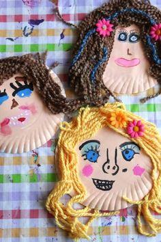 Terrific Paper Plate Self-Portrait Craft for Kids - Happy Hooligans