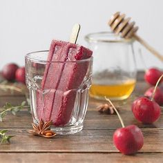 Sweet and Savoury Cherry Pops with fresh thyme and fruit! We can't think of a better way to cool off today :)