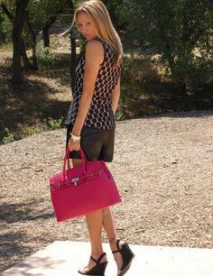 The Stylish Housewife - Polka Dot Peplum & Faux Leather Shorts