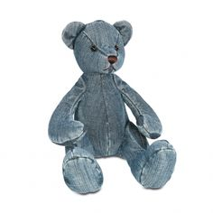 Denim Crafts, Jean Crafts, Sewing Jeans, Sewing To Sell, Denim Ideas, Recycle Jeans, Bear Doll, Recycled Denim, Animal Pillows