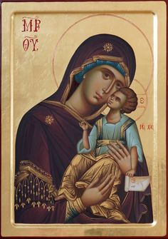 Virgin of Tenderness. Orthodox Catholic, Orthodox Christianity, Byzantine Icons, Byzantine Art, Religious Icons, Religious Art, Greek Icons, Church Icon, Russian Icons