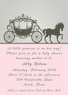 PRINTABLE Cinderella Princess Horse Carriage by NotableAffairs, $12.00