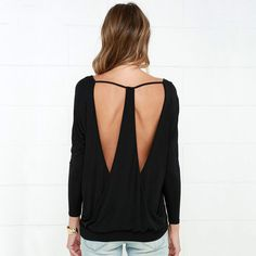 Long Sleeve Backless Tee-shirt    https://zenyogahub.com/collections/casual-tops/products/shirt-long-sleeve-tshirt