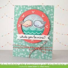 MossyMade: Lawn Fawn Inspiration Week: Whale You Be Mine