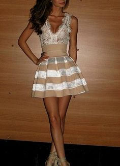 i love the lace corset at the top, would want the bottom to be solid tan, but sooo sooo cute!