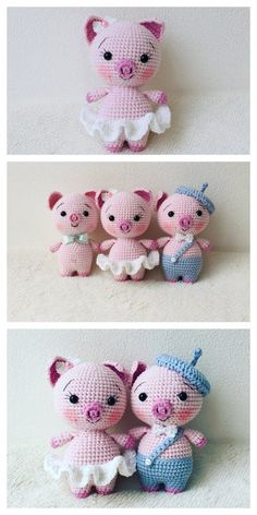 Educational and interesting ideas about amigurumi, crochet tutorials are here. Crochet Pig, Crochet Cross, Crochet Dolls, Free Crochet, Crochet Toys Patterns, Amigurumi Patterns, Amigurumi Doll, Cute Piggies, Crochet Christmas Ornaments