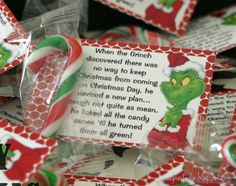 Grinch candy canes