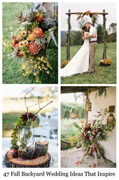 47 Fall Backyard Wedding Ideas That Inspire