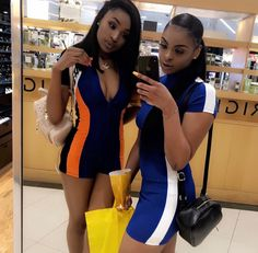 Go Best Friend, Best Friend Outfits, Best Friend Goals, Sisters Goals, Bff Goals, Squad Goals, Cute Summer Outfits, Cute Outfits, Pretty Black Girls