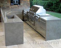 Image of: Kitchen Countertop Concrete Patio Table Countertop Concrete, Outdoor Kitchen Countertops, Concrete Kitchen, Concrete Patio, Laminate Countertops, Poured Concrete, Concrete Art, Cemento Portland, Bbq Island
