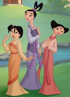 3e6ff1dd0 34 Best Cosplay ideas: Mei, Ting Ting and Su from Mulan II. images ...